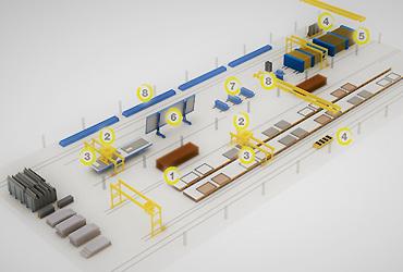 长线台座预制叠合楼板生产线